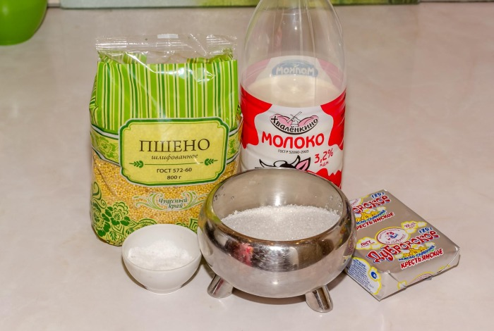 Каша пшенная на молоке – как варить в мультиварке, на плите, в духовке, микроволновке. Инструкция с фото