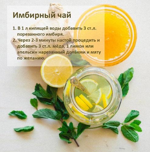 Напиток для похудения из имбиря и лимона с медом, мятой, корицей, сахаром, яблоками, огурцом. Противопоказания