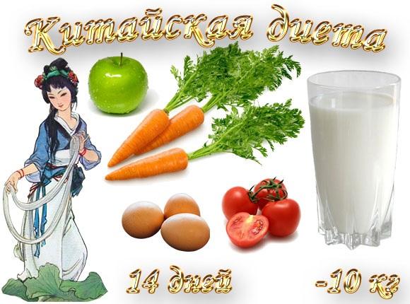 Китайская диета на 14 дней - меню в таблице, оригинал, правильное похудение. Отзывы и фото похудевших