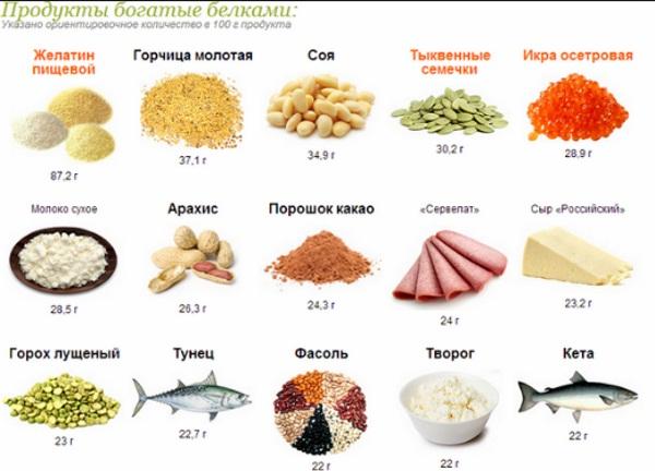 Белок в продуктах питания. Таблица по возрастанию, убыванию, норма для похудения, наращивания мышц. Список, где больше всего