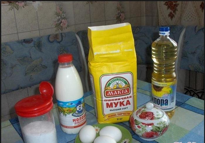 Блинчики тонкие на молоке. Рецепт пошагово, вкусные с дырочками