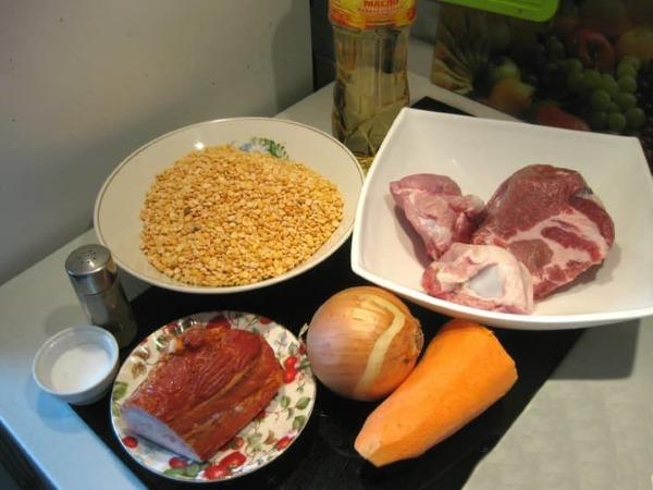 Горошница. Рецепт с фото пошагово. БЖУ, приготовление без замачивания с мясом, копченостями, курицей, тушенкой