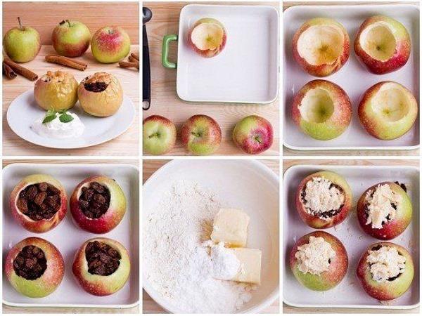 Печеные яблоки с творогом в духовке. Как вкусно приготовить, польза, рецепт пошагово с фото
