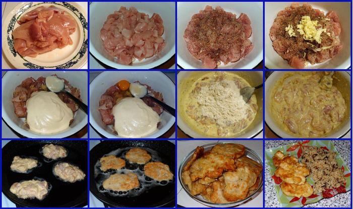 Куриные рубленные котлеты из грудки с майонезом, сыром. Как приготовить в духовке, рецепт с фото пошагово