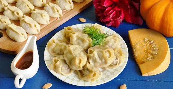 Манты с тыквой и мясом по-узбекски. Как приготовить пошагово, рецепты с фото