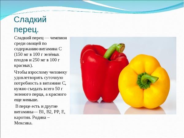 Перец болгарский. Калорийность на 100 грамм, белки-жиры-углеводы, меню питания на диете