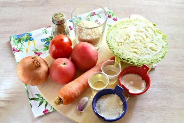 Салаты с рисом на зиму, овощные из кабачков, помидоров, капусты. Рецепты пошагово с фото