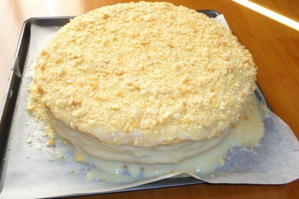 Торт Наполеон. Классический рецепт с заварным кремом, из сгущенки, советского времени, от Юлии Высоцкой
