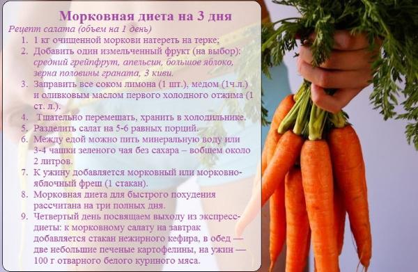 Морковь сырая. Калорийность, гликемический индекс, бжу, польза, рецепты на диете