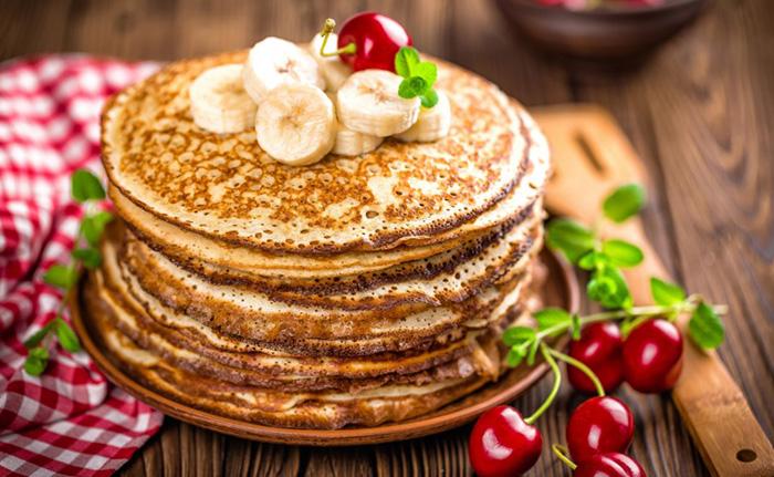 Диетические блины для похудения. Рецепты на кефире, воде, молоке из овсяной, гречневой, рисовой муки