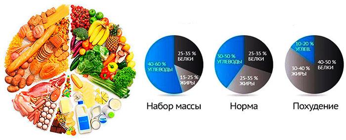 Рацион на 1000 ккал в день из обычных продуктов с БЖУ