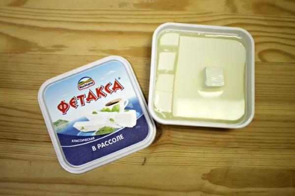 Сыр Фета. Фото упаковки, состав, цена